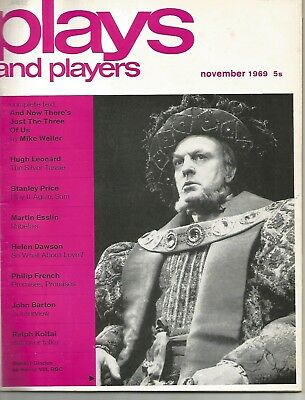 Plays & Players November 1969 Donald Sinden / Dudley Moore / John Thaw