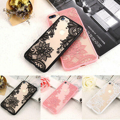 Wedding Lace mandala henna soft tpu silicone phone case cover iPhone 8 7 6S 5S 5