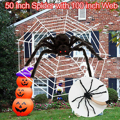 Halloween Yard.Scary Halloween Yard Decoration 50 Giant Spider 100 Web Outdoor Party Props