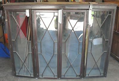 4 Antique George III Mahogany Library Bookcase Doors - AWESOME!