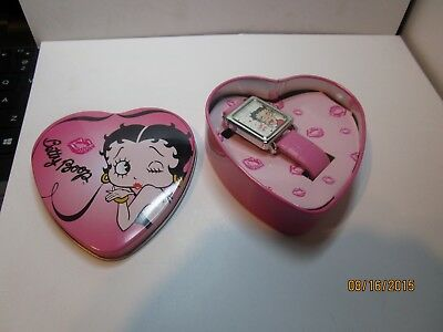 Betty Boop  Wrist watch in a heart tin