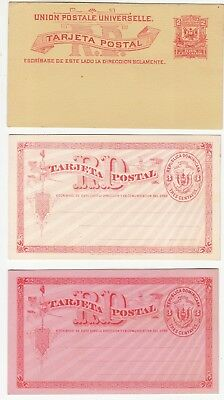 Dominican Republic: Postal Stationery: 2c and two 3c Postcards, unused