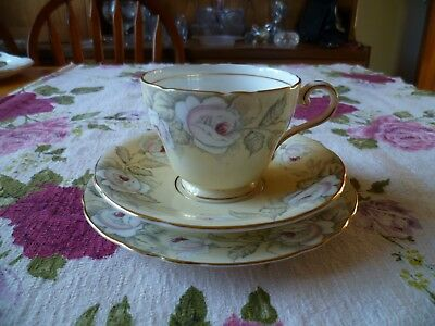 Lovely Vintage  Aynsley English China Trio Tea Cup Saucer  Plate Roses C 1801