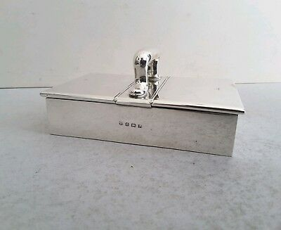 Nice Antique Solid Silver Double Opening Cigarette Box.         Birm. 1910.