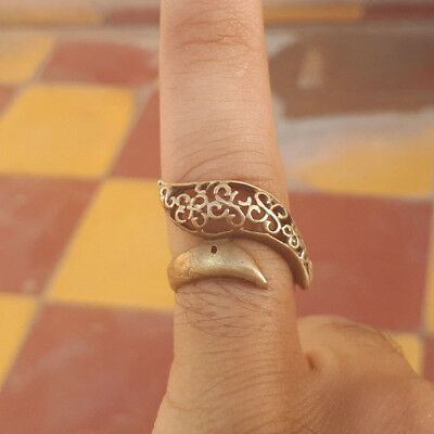VERY RARE Ancient-ROMAN LEGIONARY SNAKE bronze solid RING