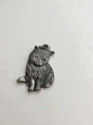 I Love My Kitty,  P.Davis, Rawcliffe Pewter Figurine, Keychain, Key Ring