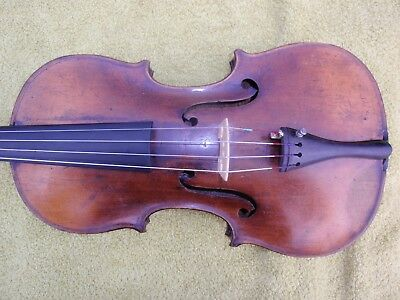 Fine Antique Joh. Bapt. Schweitzer Label 4/4 violin Ready To Play