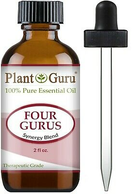 Four Gurus Essential Oil Blend 2 oz 100% Pure Therapeutic Grade Thieves