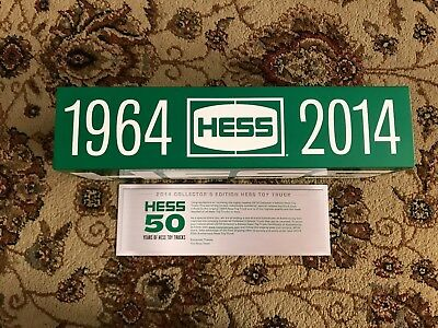 New 2014 Hess 50th ANNIVERSARY COLLECTOR'S Brand New Collectible LIMITED EDITION