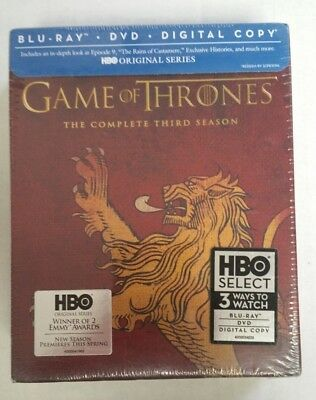 Game Of Thrones: Season 3 Exclusive Lannister Packaging Blu-Ray DVD NEW SEALED