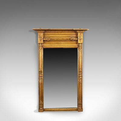 Antique Pier Mirror, Regency, Giltwood, Wall, Early 19th Century, Circa 1820