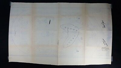 The Original Bally Playboy Playfield Blueprint With Designer Notes. Signed!