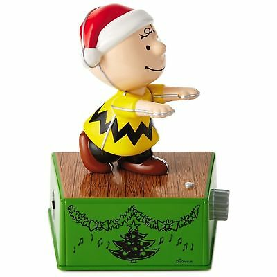 Hallmark 2017 Peanuts Christmas Dance Party CHARLIE BROWN Retro Music Motion NWT