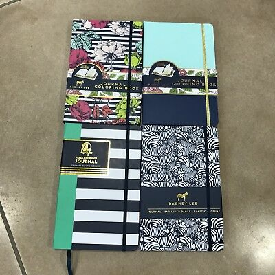 New Dabney Lee Zebra Colorblock Floral Striped Journals Lot Of 4