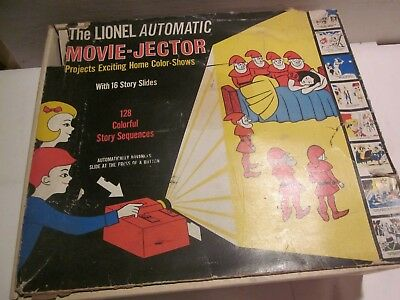 VINTAGE VERY RARE, '60s, LIONEL AUTOMATIC MOVIE-JECTOR SLIDE VIEWER SET W/BOX