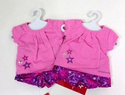 New AMERICAN GIRL Retired Butterfly Sweet Pajamas- Set of 2 Our Generation Doll
