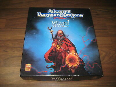 AD&D 2nd Edition Wizard Spell Cards Boxed Set 1992  TSR 9356 VG