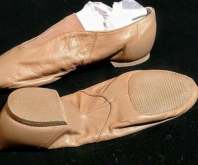 Tan Bloch Slip On Split Sole Jazz Shoe Adult Size 11.5 $ALE $AVE!
