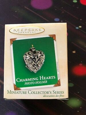 2003 Charming Hearts #1 in Series- Photo Holder Hallmark Miniature Ornament