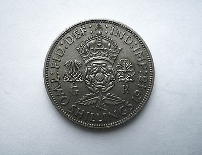 1948 Two Shillings Coin Great Britain Km865