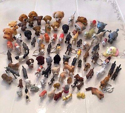Large Lot Of 89 Small To Medium Dogs And Cats 1-3 Inches Long Many  Breeds