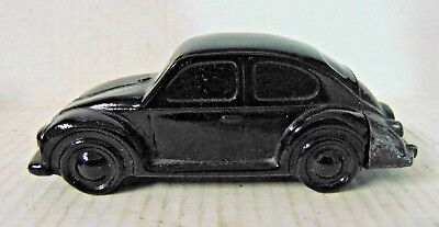 Avon Glass and Plastic Volkswagon Bug Aftershave Bottle