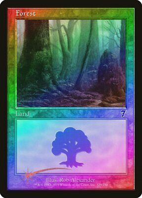FOIL 7th Edition NM-M Basic Land MAGIC THE GATHERING CARD ABUGames 349 Swamp