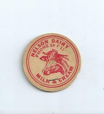 """Nelson Dairy""   Auburn, Wash. milk bottle cap."