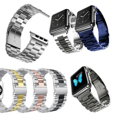 For Apple Watch iWatch series 5 4 3 2 1 Stainless Steel Band Link Bracelet Strap