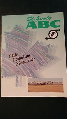 1992 St. Jacobs Abc Canadian Holstein Young Sire Directory Book - Elite Families