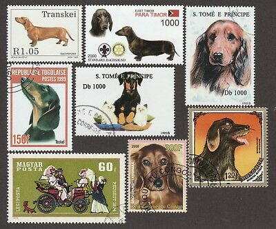 DACHSHUND ** Int'l Dog Stamp Collection ** Unique Gift Idea*