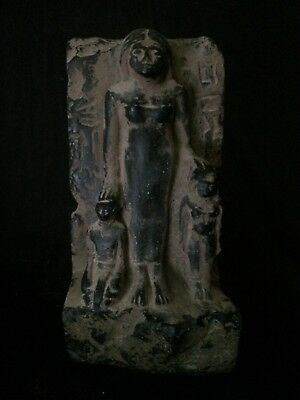 EGYPTIAN ART ANTIQUES EGYPT Statue Motherhood Sculpture Stela Relief 1860 BC