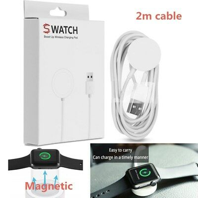 Magnetic Charging Cable Wireless Charger Dock For Apple Watch iWatch 2 3 (2m)