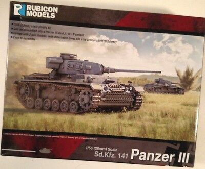Rubicon Models German Panzer III - Mid War #280011 for Bolt Action and WW2 Games