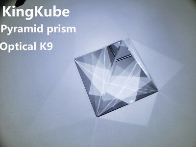 50mm KingKube K9 Optical Glass Four Sides Pyramid Prism Experiment Instrument