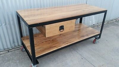 RUSTIC Dining Table KITCHEN ISLAND Bench INDUSTRIAL Workbench OUTDOOR Table