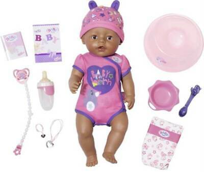 ZAPF Baby Born Soft Touch Interactive Girl Doll Brown Eyes