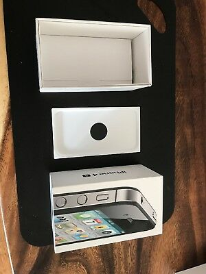 APPLE IPHONE 4S BOX Only with Sim Tool, Manuals & Tray - NO IPHONE - White 16GB