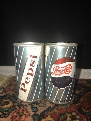 1960's Pepsi Cola 12 OZ Soda Cans Lot Of 2