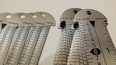 Letterpress (STAINLESS STEEL TYPE HIGH 12''RULER FOR PLATEN AND LETTERPRESS)