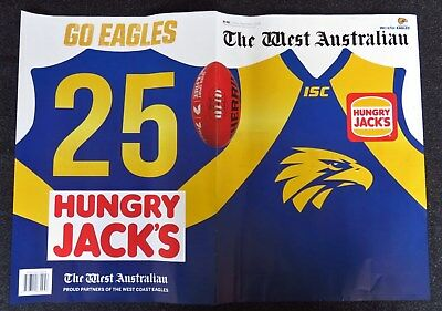 2018 Afl Football West Coast Eagles Newspaper Shannon Hurn Cover And Poster