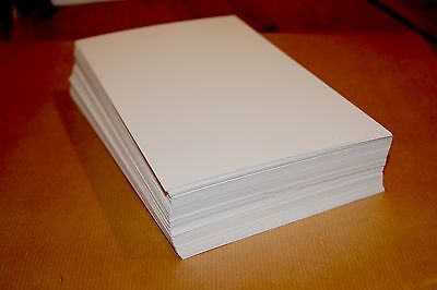 letterpress 320gsm 100% cotton papers 200 sheets pre cut 153mm X 210mm ice white