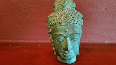 Antique Thai Bronze Head