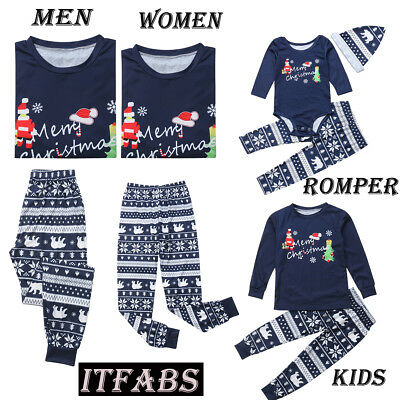 ITFABS Family Matching Christmas Pajamas Set Women Baby Kids Sleepwear Nightwear