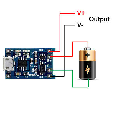 10pcs TP4056 5V 1A USB Lithium Battery Charger Board Protection Module for 18650