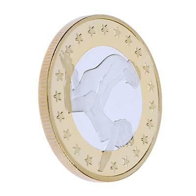 Art Collect Alloy Gold-Plated Bitcoin Commemorative Coin Gift Decoration