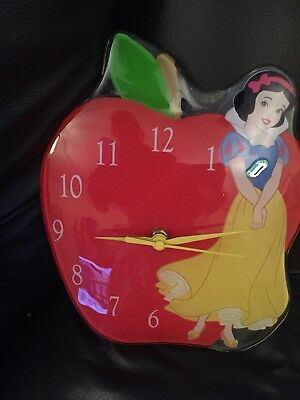 Snow White Glass Apple Wall Clock From Disney Enchanting Collection.