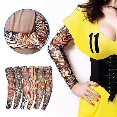 6/12pcs Tattoo Sleeve Sun Protection Stretch Arm Cover Stocking Costume Dress