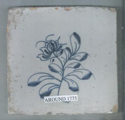 Antique Netherlands Delft Tile Around 1775