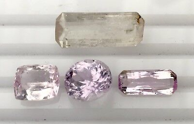 29.5 Ct Natural Kunzite Faceted Gemstone Untreated Lot Afghanistan K4